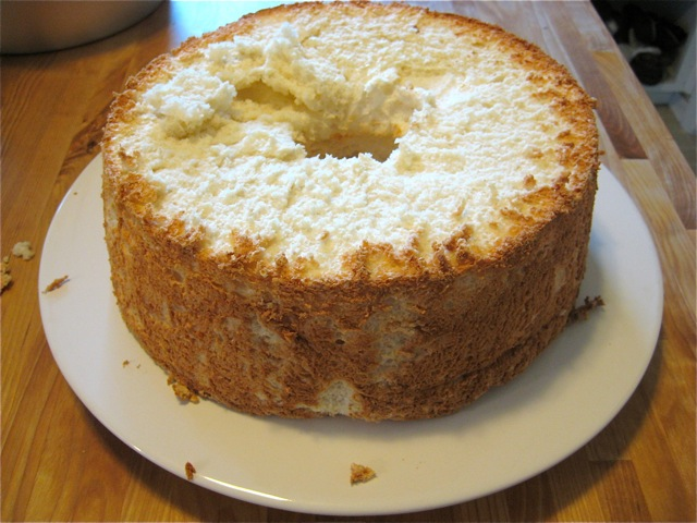 Angel food cake prepared
