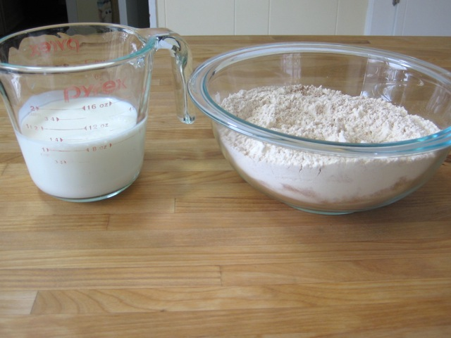 Buttermilk and dry ingredients