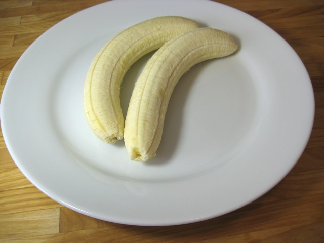 Bananas on plate