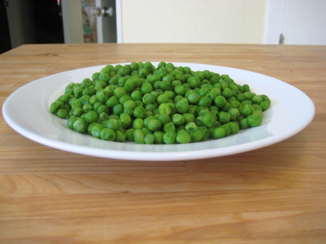 Peas cooked