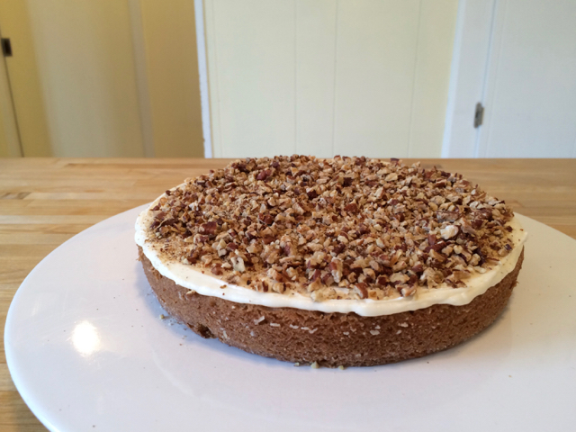 ⅓ cup toasted pecans added to bottom layer