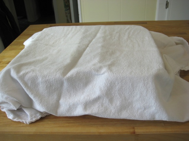 Dough covered with dry cloth