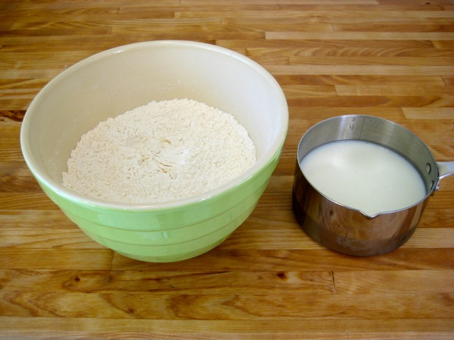 Flour mixture and buttermilk