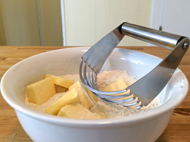 Butter ready to be cut in