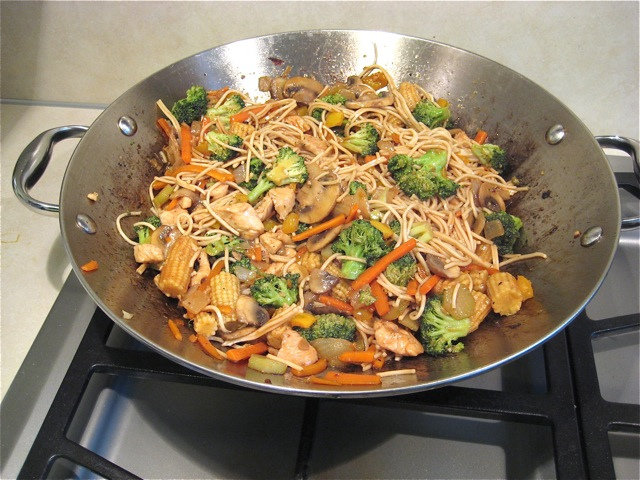 Stir fry ready to serve