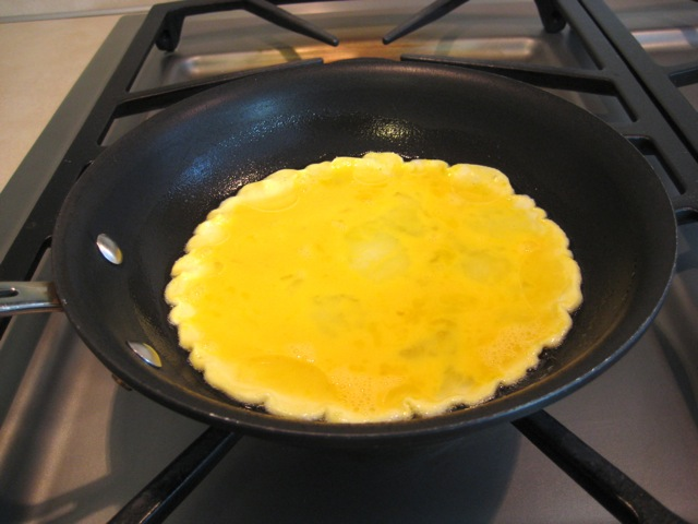 Frying the eggs