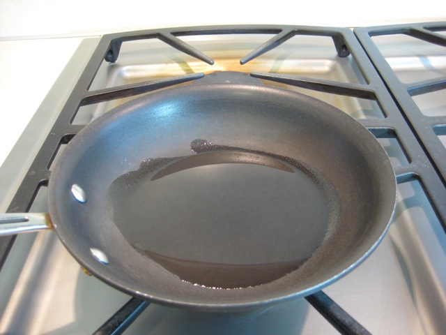 Oil in pan