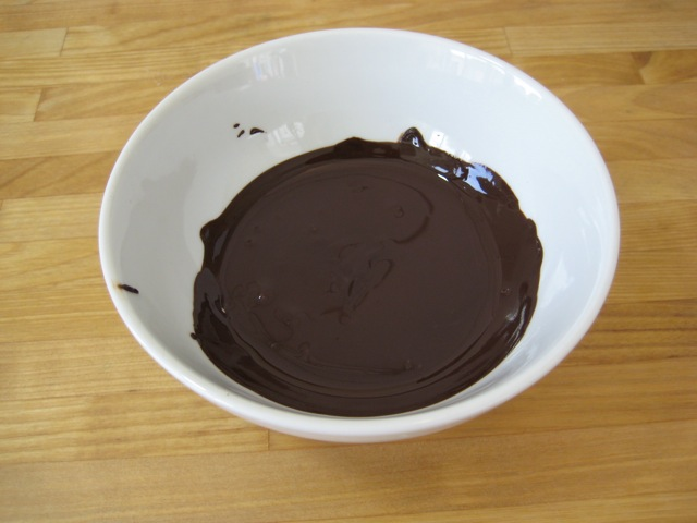 Chocolate melted and cooled