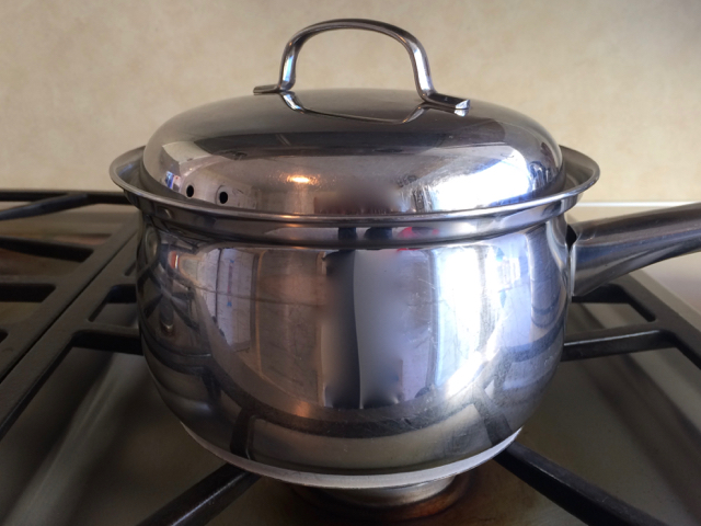 Saucepan covered, let stand for 10 minutes