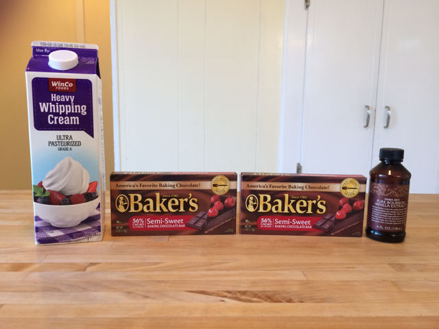 Ingredients using Baker's chocolate