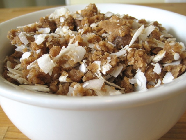 Coconut Streusel Topping