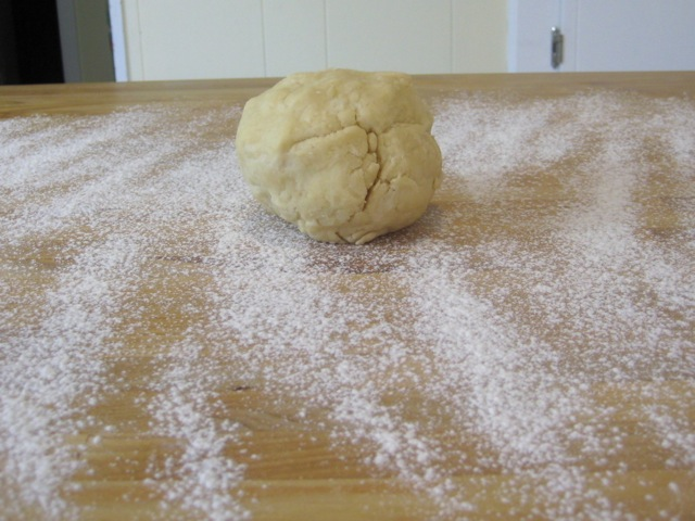 Dough on floured surface