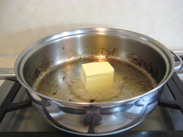 Butter in pan