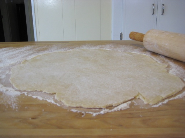 Rolled pie crust
