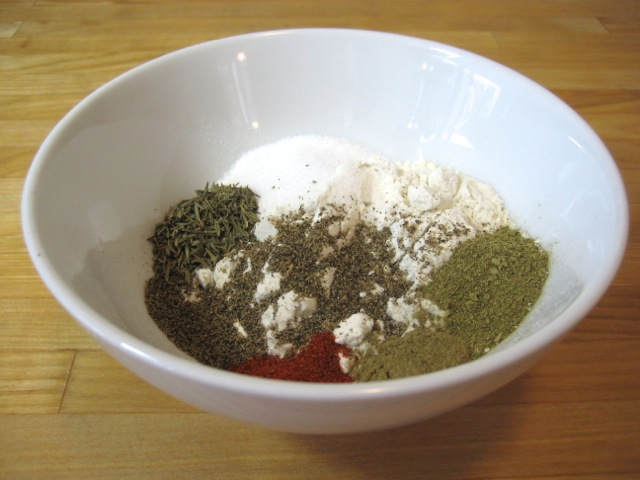 Flour and spices for sauce