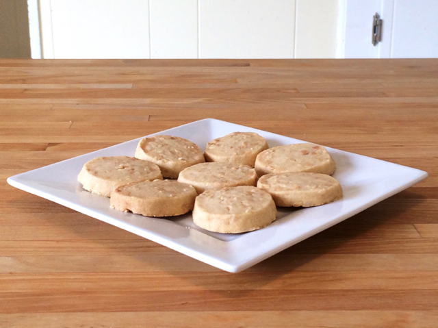 Crunchy Sliced Peanut Cookies