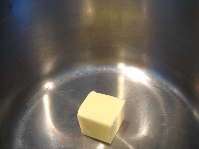 Butter in Dutch oven