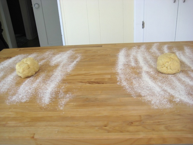 Dough ready to roll