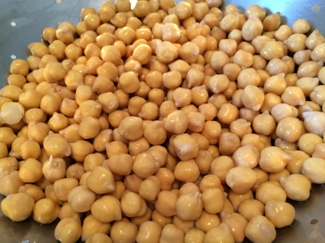 Chickpeas rinsed and drained