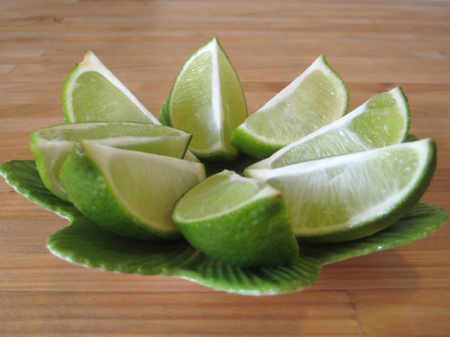 Limes ready to be served