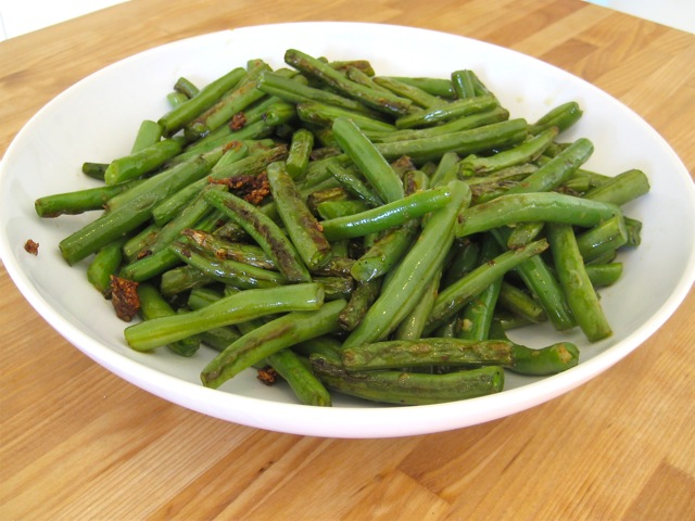 Green beans ready to serve