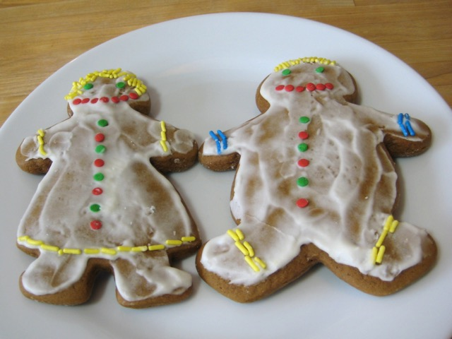 Decorated Gingerbread Man and Woman