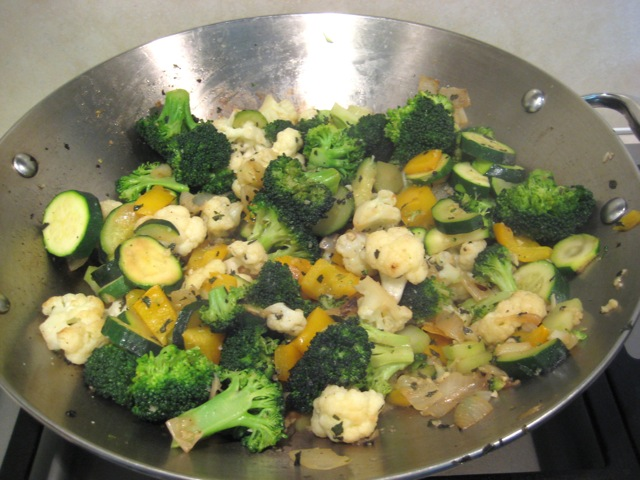 Veggies cooked