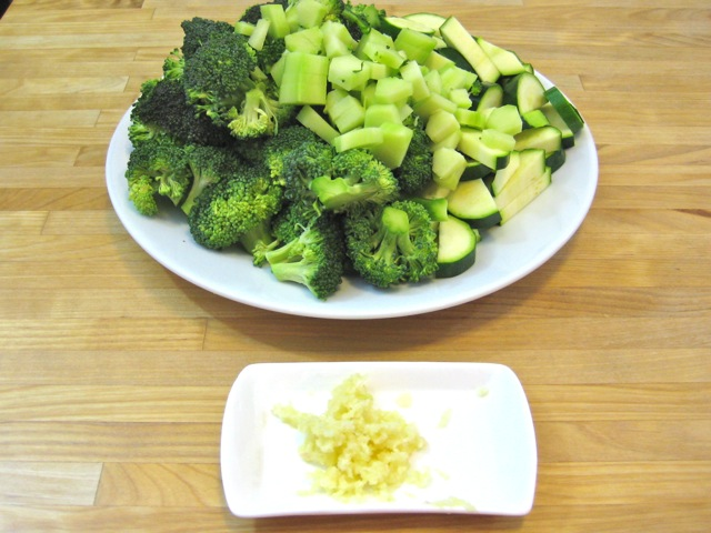 Broccoli, zucchini, and garlic