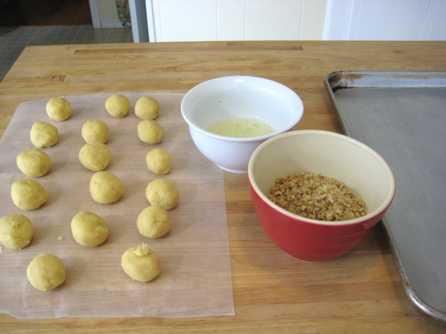 Ready to dip dough balls