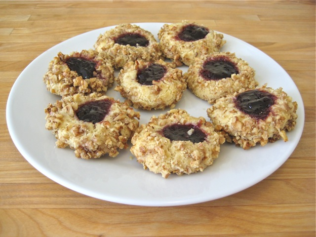 Jam Thumbprints With Nuts
