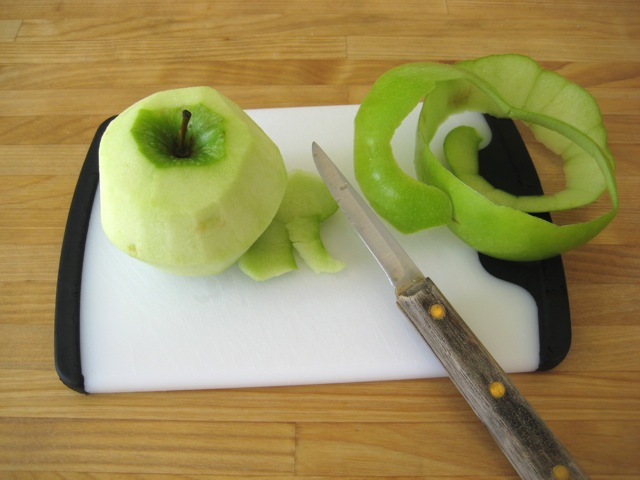 Apple peeled