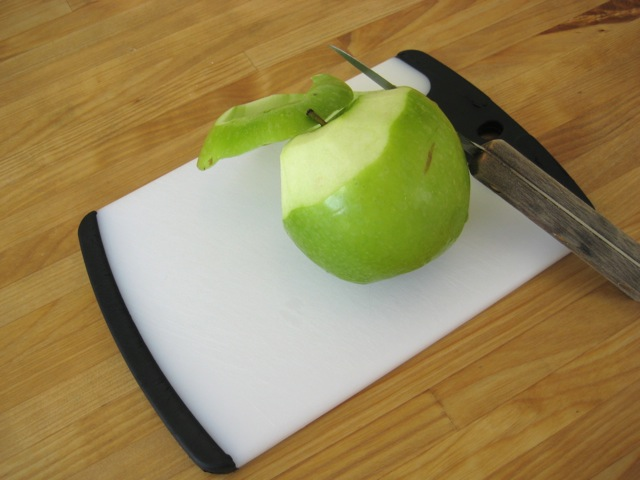 Peeling an apple