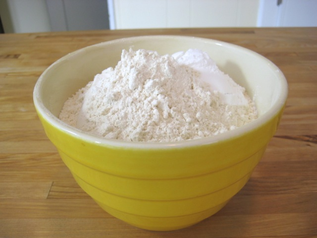 Dry ingredients in separate bowl