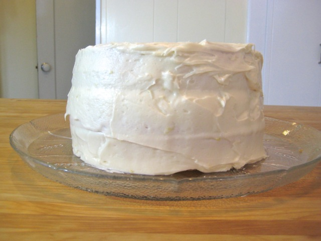 White Layer Cake frosted