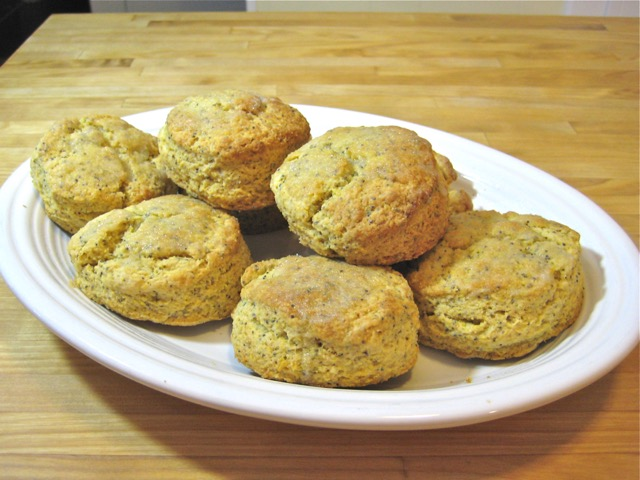 Lemon Poppy Seed Cornmeal Scones