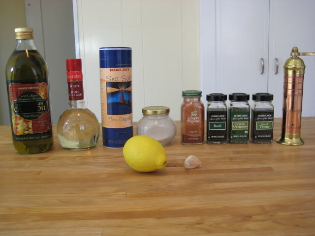Ingredients for Lemon Vinaigrette