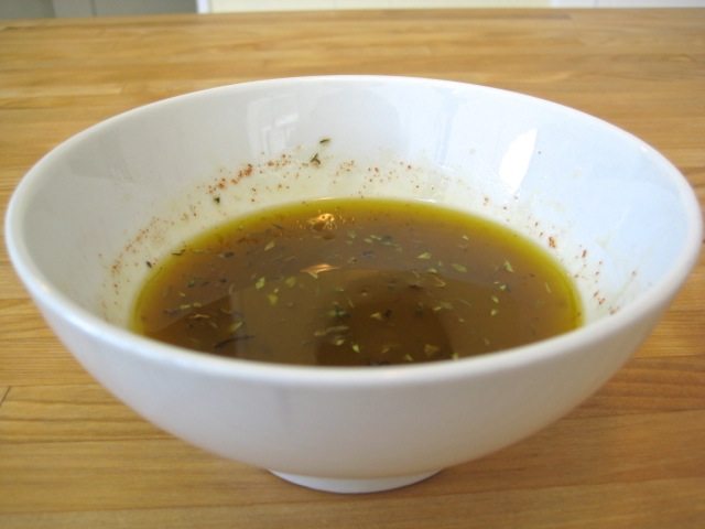 Lemon Vinaigrette mixed and ready for salad