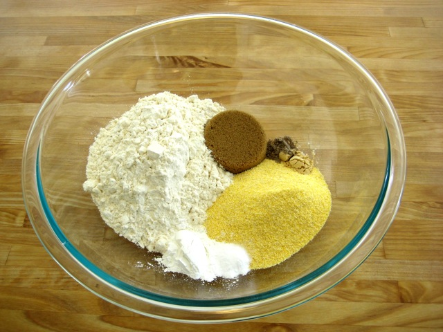 Dry ingredients in a bowl