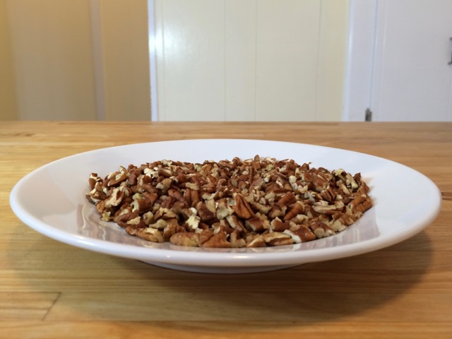 Toasted chopped pecans for topping