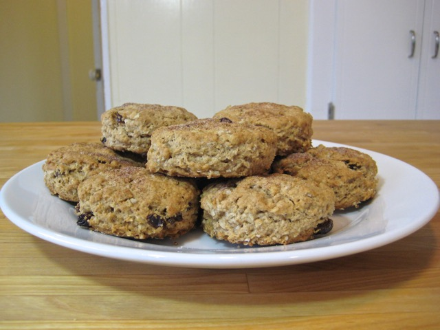 Oatmeal Orange Raisin Spice Scones