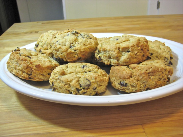 Oatmeal Chocolate Chip Coconut Cherry Scones
