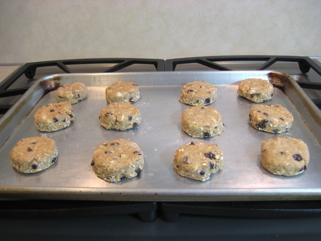Scones on baking sheet