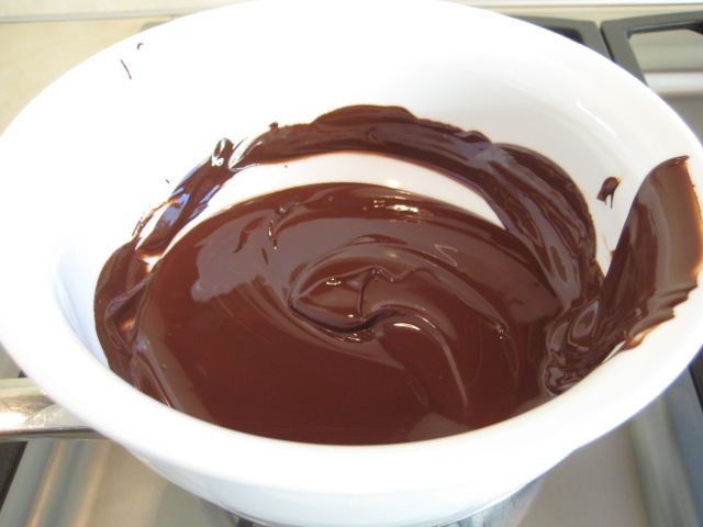 Dark chocolate melted