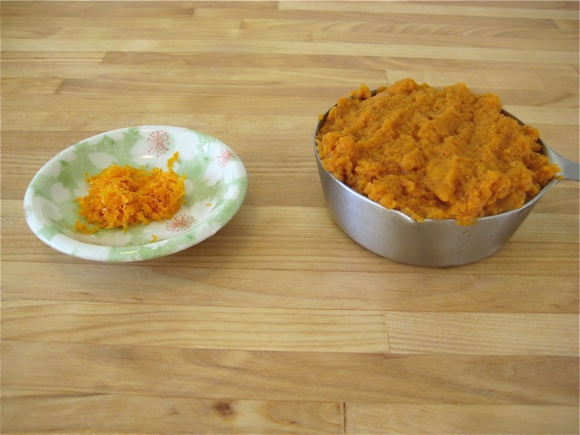 Pumpkin and orange zest
