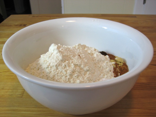 Dry ingredients in a medium bowl