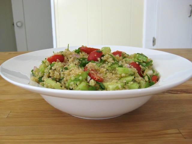 Quinoa, Cucumber, and Tomato Salad