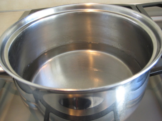 Bringing salted water to a boil