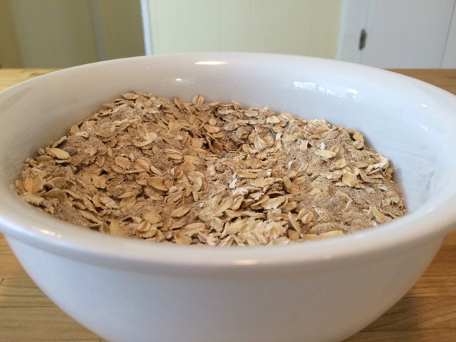 Oats mixed in