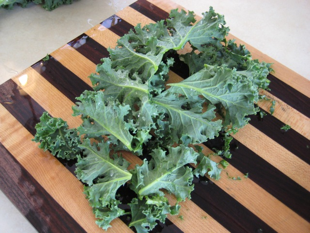 Kale with stem removed
