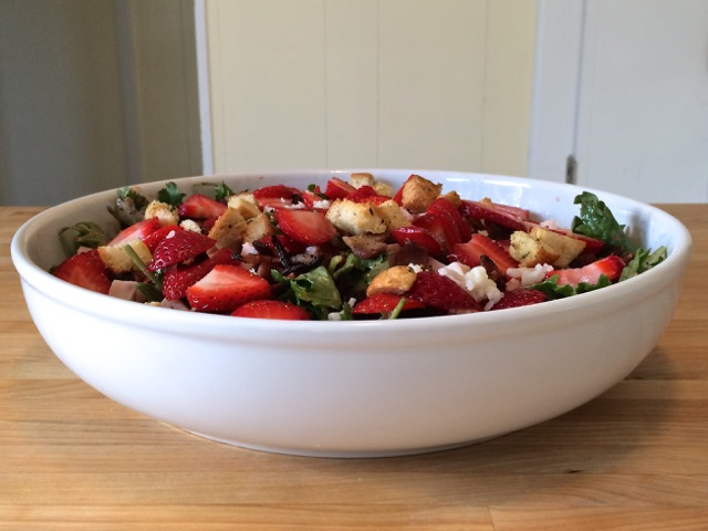Strawberry, Spinach, and Baby Kale Salad